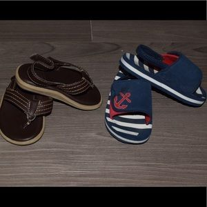 Two pairs of toddler sandals Size 5/6